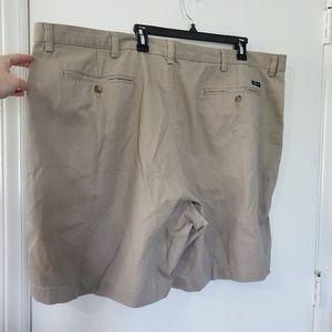 Chaps Mens Tan Dark Khaki Shorts Size 48